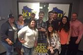 Walker McGuire Poses With Friends At WKTI/Milwaukee