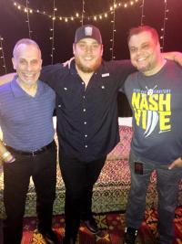 Luke Combs Hangs With WKDF/Nashville