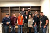 Brett Young Hangs With Radio Pals In Salt Lake City