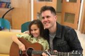 Trent Harmon Visits Tuft's Medical Center Floating Hospital For Children