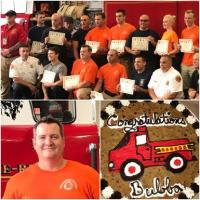 Congratulations To Firefighter Bubba!