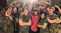 Chris Janson Performs For U.S. Military Members