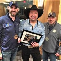 Garth Brooks Hangs With WBYT/South Bend At Notre Dame Stadium Show