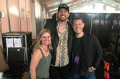 Matt Stell Poses With Radio At LakeShake
