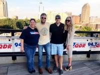Teddy Robb Visits WQDR/Raleigh On The Rooftop