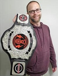 Wes 'The Blade' Styles Displays His Radio Edit Championship Belt