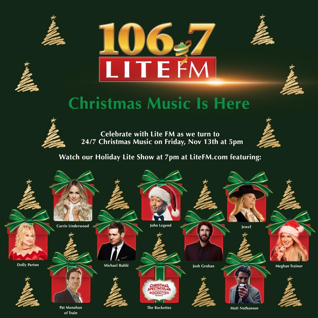 106.7 Fm Christmas Music 2021 List Latest Radio News Talk Shows Sports Hosts Personalities Allaccess Com